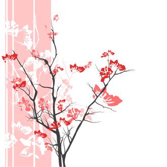 Rosa blomma Japanska blommor